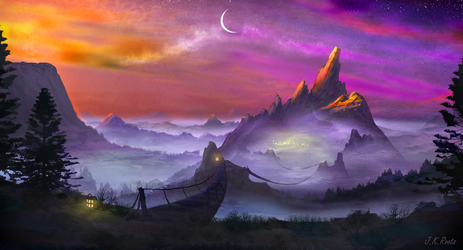 Mystic Town by JKRoots