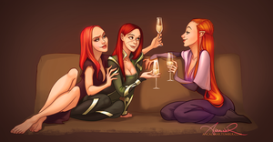 Three Redheads by ancalinar
