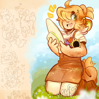 Toasted Poppy DTA- Handful of Sunshine by AdorkableMarina