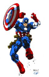 Captain America by Bobbett by threetoedmidget