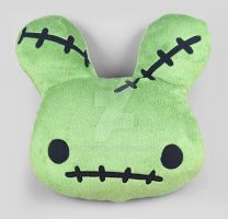 Zombunny Pillow by SewDesuNe