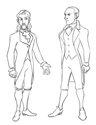 Hamilton Storyboard Character Designs by Paperwick