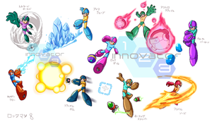 Megaman 8 Weapon Set by innovator123