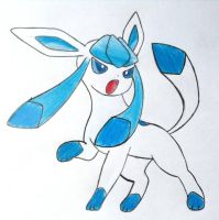 Glaceon doodlee (traced) by blueberrylazuli1