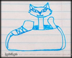 Kitty in Shoe, a still life by mslaynie