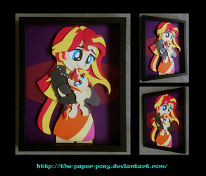 11 x 14 EQG Sunset Shimmer Shadowbox by The-Paper-Pony