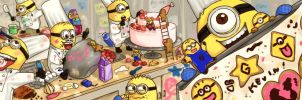 Cookie Minions Come to Life! Baking Madness by pianopear12