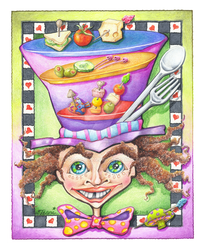 MAD HATTER FOODIE: MAD PLATTER by popartdiva