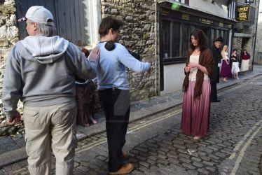 Filming with the whores and Fantine by southdevonplayers