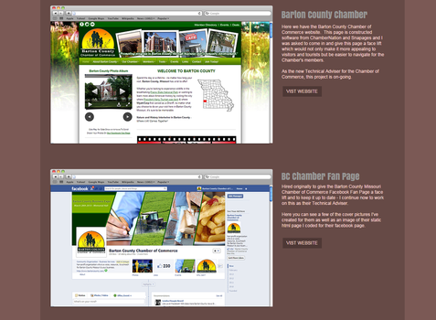 Barton County Chamber Website and Facebook by camarilladee