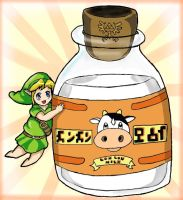 Link Loves Lon Lon Milk by pokeibuni