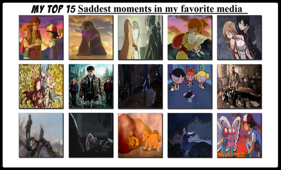 My Top 15 Saddest Moments In My Favorite Media by BeeWinter55