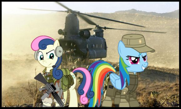 Ponies Go To War by ThunderrDash