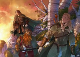 COMMISSION: LORD OF THE RINGS by MartinaSaviane