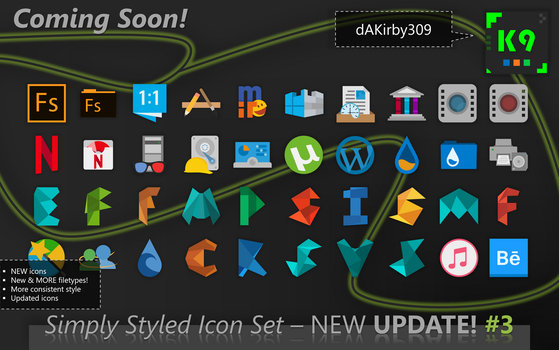UPDATE PREVIEW #3 - Simply Styled Icon Set by dAKirby309