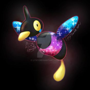 Pokemon fusion - Porygon Z x Cosmog by Lyxy