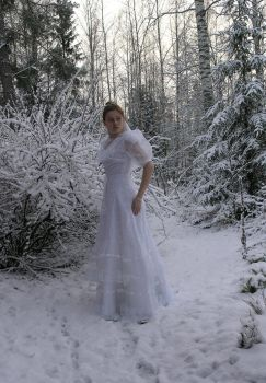 Bride in the snow 10 by Eirian-stock