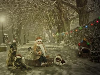 Waiting for santa with friends by 1stesahne