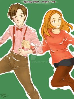 The Doctor and Amelia Pond by Lowis13