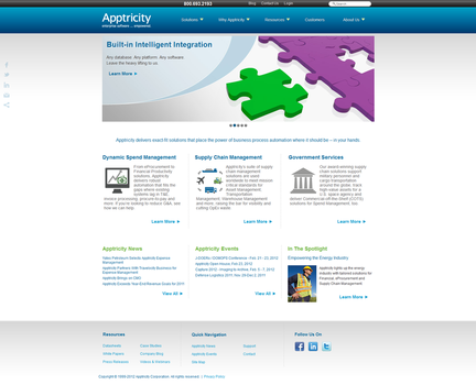 Apptricity Website 2011 by firefallvaruna