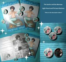 The Surfer and the Merman -- Light Novel + Buttons by Teddybear-93