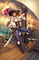 Lady Pirate in color by Sabinerich