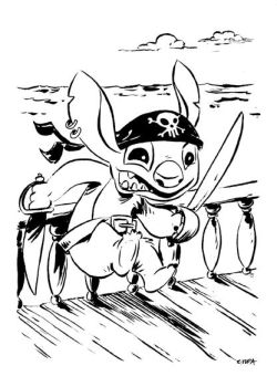 Tupa stitch pirate by littlereddog