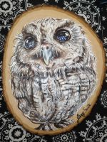 Zeus the Blind Owl by aesmithart