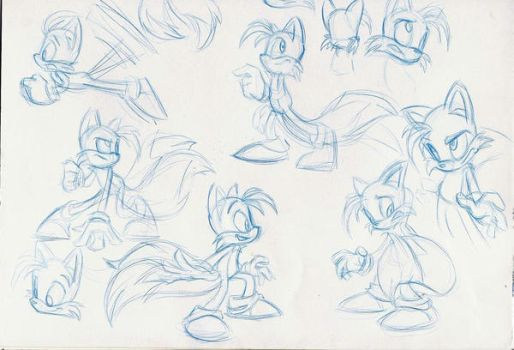 tails sketch pile by enolianslave