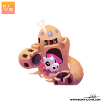 10/15 - Cubone and Pallosand! by BonnyJohn