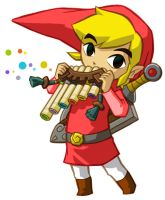 Red Link and the Spirit plute by LittleBlueLink