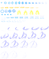 DBZ Aura's and effects sheet by shadow228