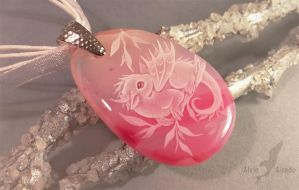 Pink forest baby dragon by AlviaAlcedo