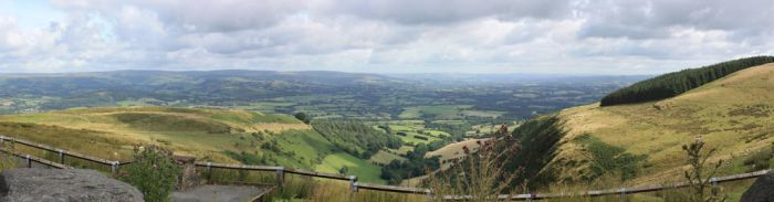 Brecon fields panorama by CAStock