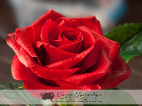 Red Rose - Polymer Clay Flowers - Part 1 by SaisonRomantique