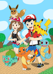 Two New Trainers and Starter Pokemon by MCsaurus