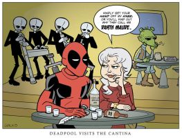 Deadpool Visits The Cantina by BillWalko