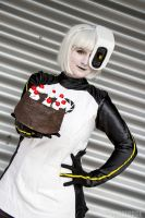 GLaDOS with really real cake! by Yuzulina