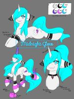 [Oc Reference] Midnight Glow (new) by Midnightglow20