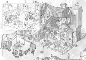 Fantasy Inn/Market - Cutaway | Viscom 2 Week 12 by VplusY