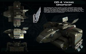 DR-4 Viking Dropship ortho by unusualsuspex
