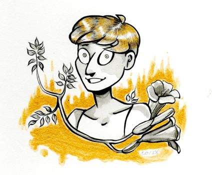 Trumpet Creeper (Inktober #10) by pinearts