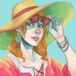 a carol and a sunhat by siiila