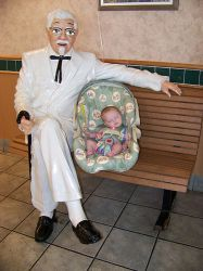 Creepy Colonel Sanders + baby by Sustaining-Substance