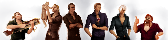 Mans in a Black shirts by Avinna