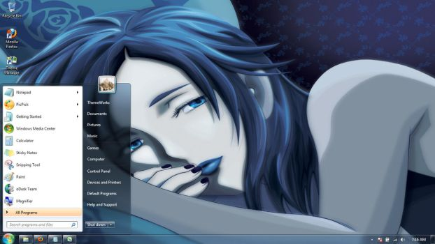 Anime-girls-26 Windows 7 theme by windowsthemes