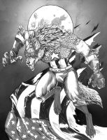 Inktober Piece: Capwolf! by arania