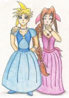 Cloud and Aerith FFVII by pandacub
