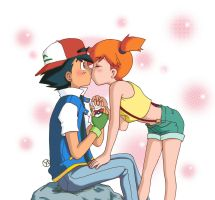 Ash e Misty - Kiss 2 by Ya-chan85