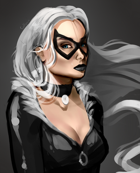WIP - Black Cat by Coffence